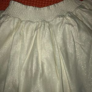 Carters sparkly gold party skirt
